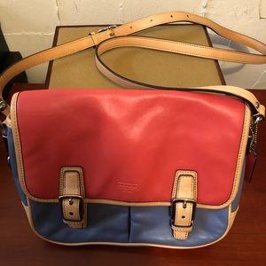 Coach color block crossbody bag